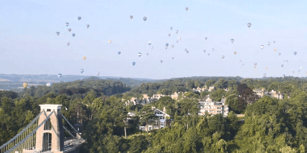Watch the balloons from 360 at the Observatory, Bristol's newest rooftop café